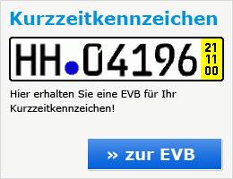 Kurzzeitkennzeichen-EVB